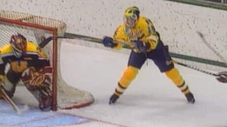 I was innetfor...The Michigan goal