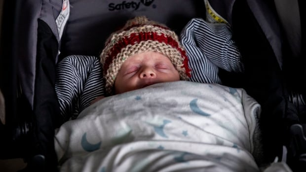 Baby comes home, as B.C. mother remains in ICU due to COVID-19 complications | CBC News
