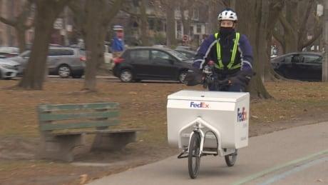 Yuri Mitroff FedEx e-bike courier