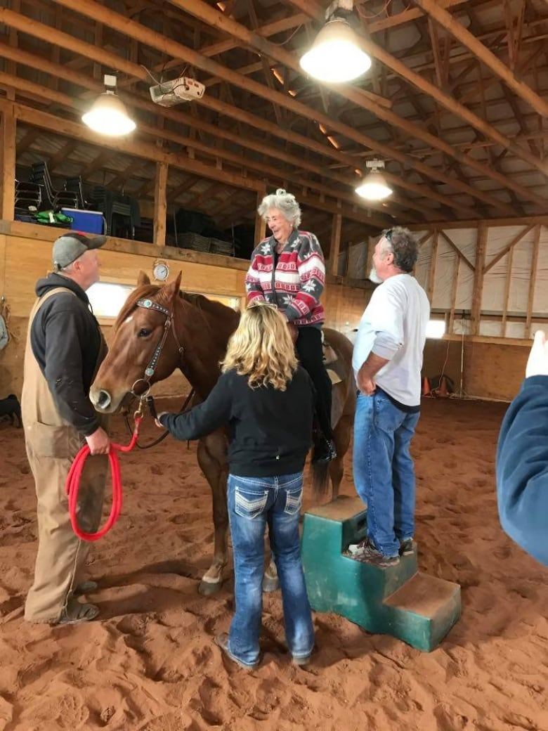 88-year-old P.E.I. Girl gets down to the horse after three-quarters of a century thumbnail