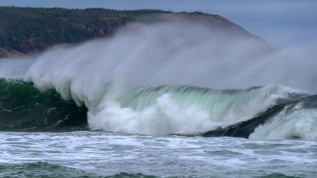 Waves at Witless Bay
