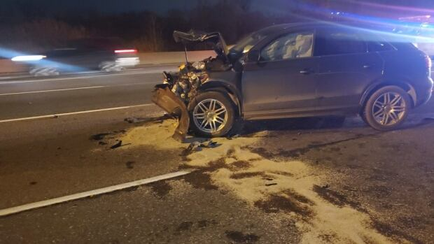 2 children taken to hospital with serious injuries following 3-vehicle collision in Ajax | CBC News