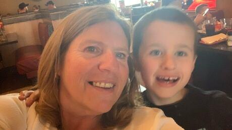 Evelyn Martens and her grandson