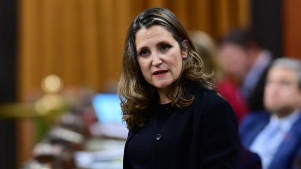 Freeland presses Tories to speed up passage of COVID-19 relief bill