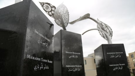 Quebec City mosque shooting plaques with names