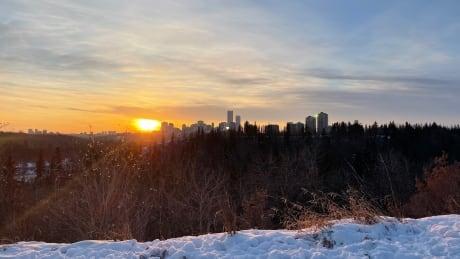 Edmonton winter sunset