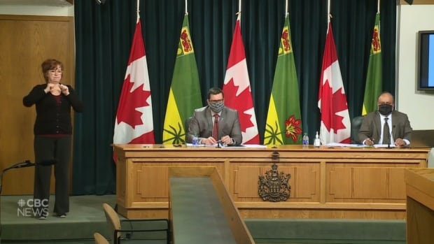 Sask. gov't, Dr. Shahab not answering what COVID recommendations he has made | CBC News