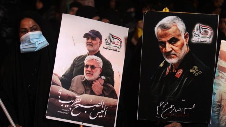 Iraqis mark Soleimani's death with marches, anti-US chants