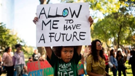 Kid climate change protester