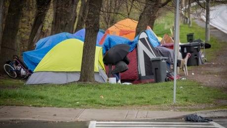 Toronto homeless tents