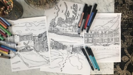 Snowmageddon children's drawings 1