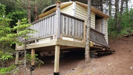 the treehouse Kent Dunville built for his kids