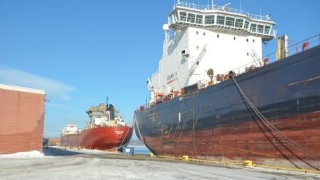Thunder Bay port vessels docked