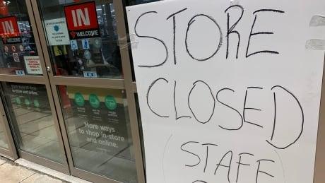 Store closed Sudbury Canadian Tire
