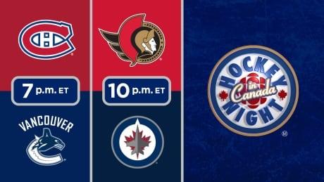 HNIC - MTL at VAN - OTT at WPG - Canadiens at Canucks - Senators at Jets