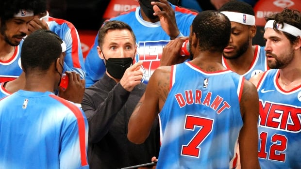 Steve Nash has his hands full with the Brooklyn Nets