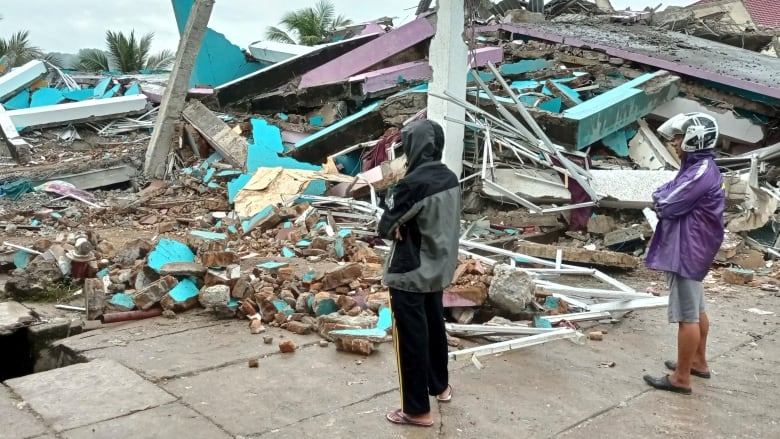 Quake  sets off landslides, kills at least 3 in Indonesia