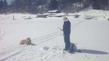 Shan Case ice fishing