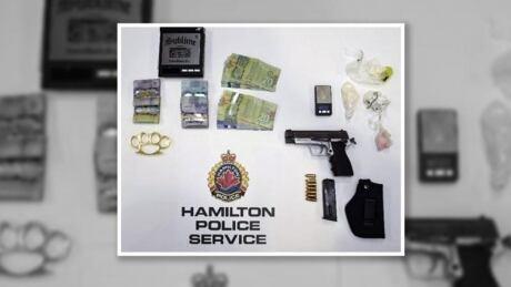 Handgun, drugs seized