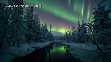 Beautiful auroras glimmer over Finland skies