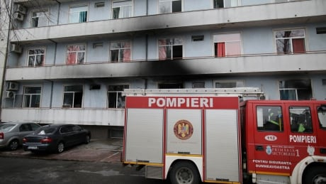 HEALTH-CORONAVIRUS/ROMANIA-FIRE