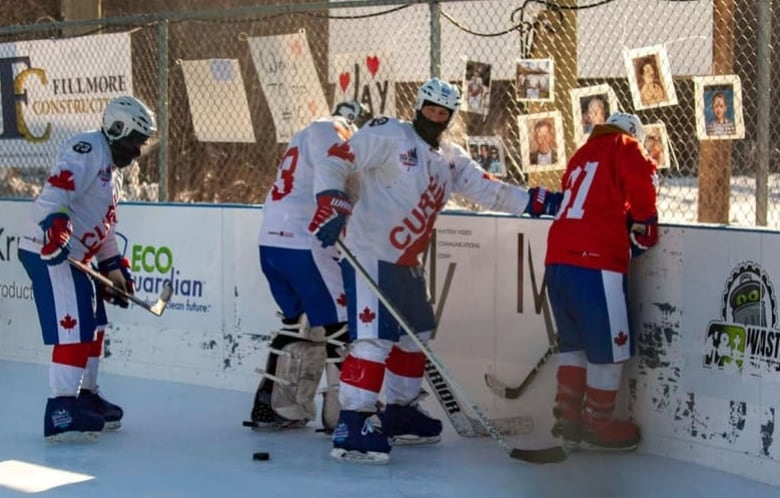 Pucks shatter, blades break: Alberta players brave cold for 252-hour hockey game