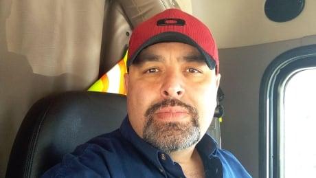long haul trucker, Luis Franco of Calgary