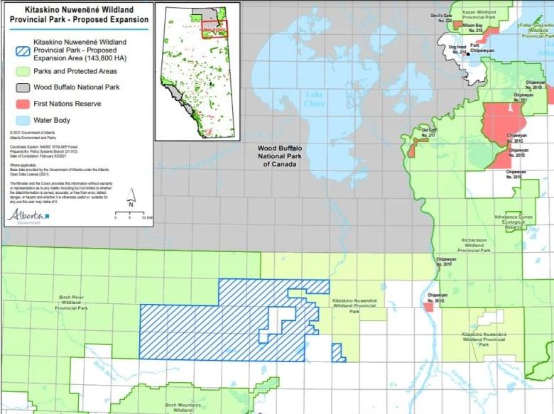 Alberta plans massive expansion of Kitaskino Nuwenëné Wildland area