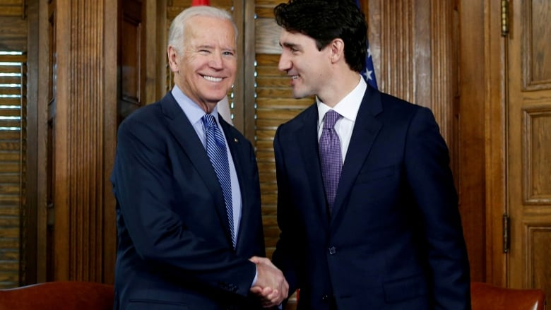Trudeau and Biden seen here together in Ottawa in 2016 will have their first virtual meeting Tuesday