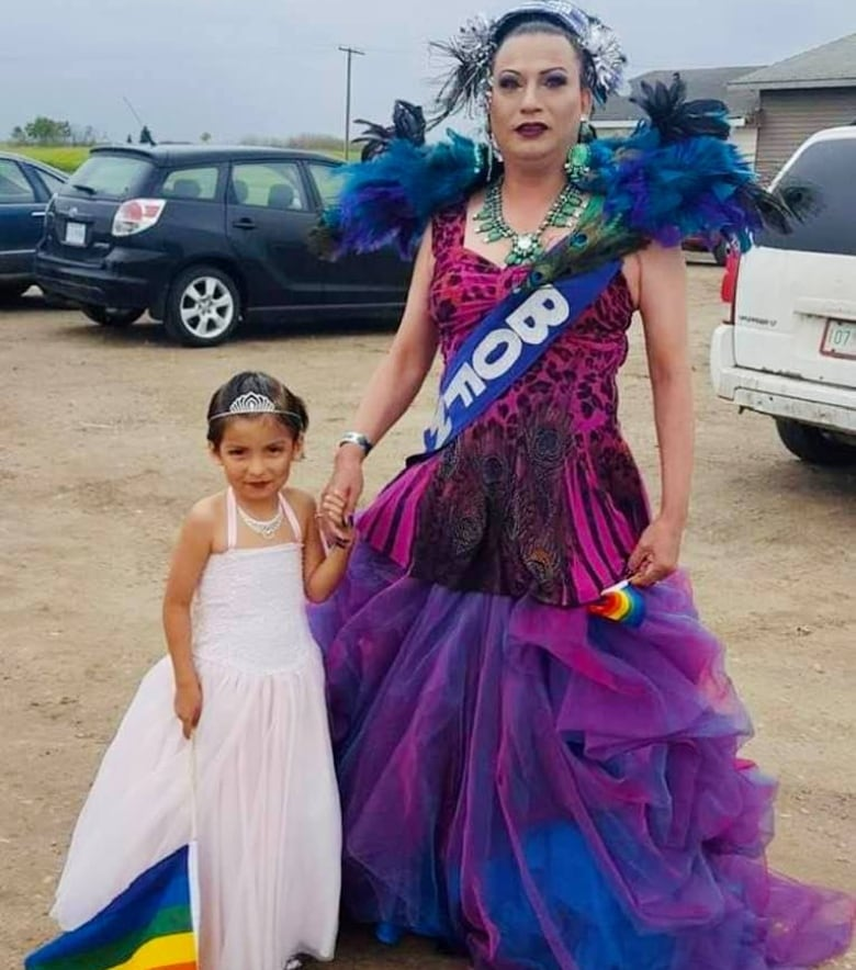 'Everybody sees her exactly as a girl': 9-year-old Sask. girl embraces identity through makeup, ribbon skirts