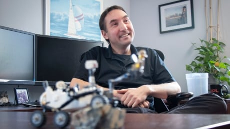 Greg Wanger keeps a model of Perseverance in his Halifax office.