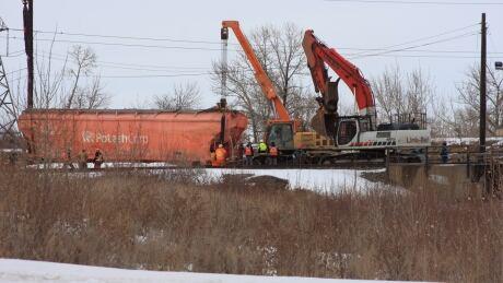 CP Rail derailment Calgary Alyth railyard