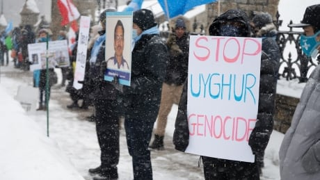 Uighur protest on Parliament Hill