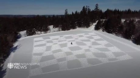 N.S. artists create epic design on frozen lake
