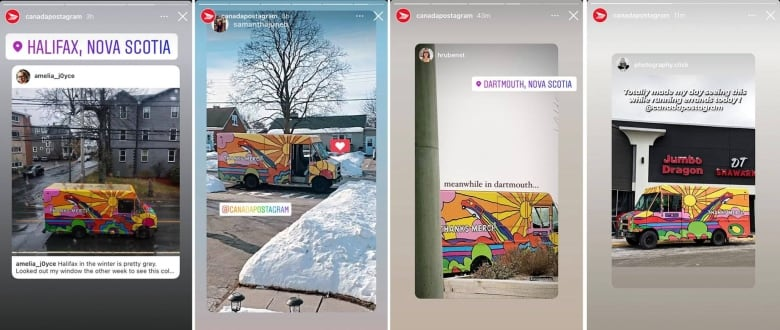 This fleet of Canada Post trucks went psychedelic thanks to a London, Ont., artist's 'funny idea'