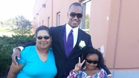 Lionel Desmond with mother, daughter