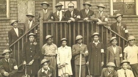 Halifax all-black civilian fire brigade circa 1943