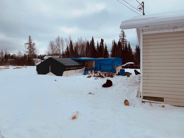 COVID-19 tents, shacks turned into homes amid housing crisis in Eabametoong First Nation