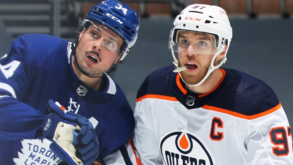 Connor McDavid isn't expecting offensive explosion in Oilers-Maple Leafs series | CBC Sports
