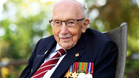 File photo of British war veteran, Capt. Tom Moore, from Sept. 2020