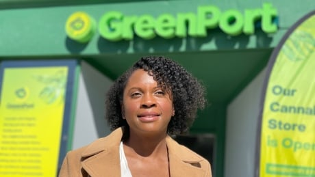 Vivianne Wilson founder and President GreenPort Cannabis in front of her College st. store