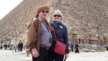Karen Weber at the pyramids