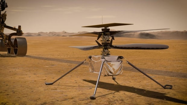 Listen to the Ingenuity helicopter humming through the Martian air