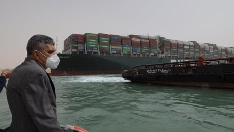 Ship still stuck in Suez Canal for 2 entire days now as backlog grows to 150 other ships