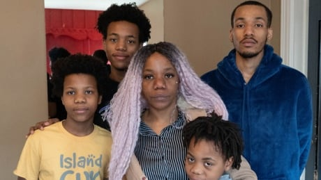Nadia Ngoto and her four sons