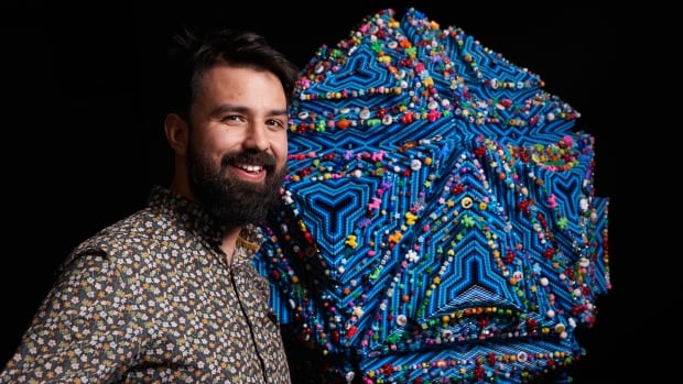 Anishinaabe artist crafts giant bead sculpture to honour SickKids patients