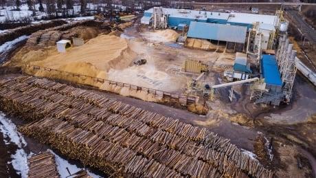Wood pellet logs