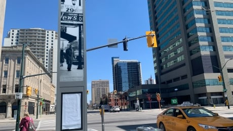 <div>Catch a glimpse of London's past on new Dundas Street pillars</div>