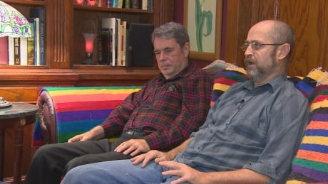 Chris Vogel and Richard North in 2014 CBC story