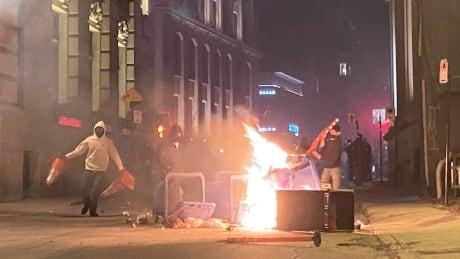 Curfew protest fire April 11 2021